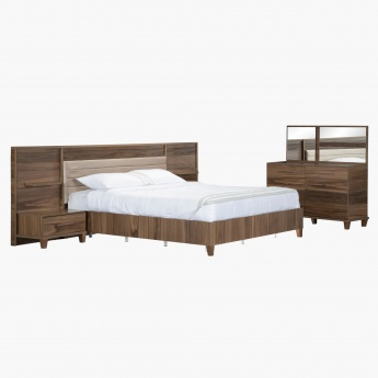 Rustik King Bed Set - 180x210 cms