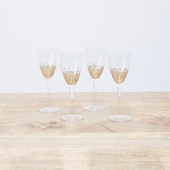 Alexandrina Printed Stem Glass - Set of 4
