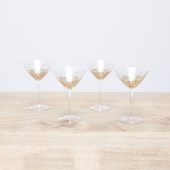 Alexandrina Printed Mocktail Glass - Set of 4