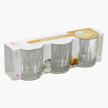 Excalibur Cylindrical Tumbler - Set of 3