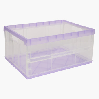 Collapsible Storage Box with Lid - Large