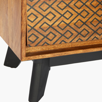 Nomos Printed End Table with Drawer
