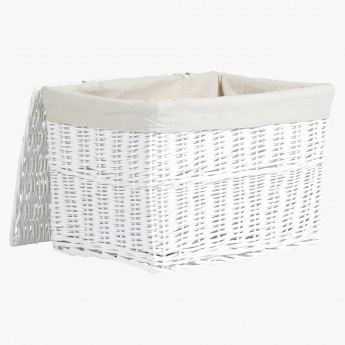 Willow Storage Basket with Lid