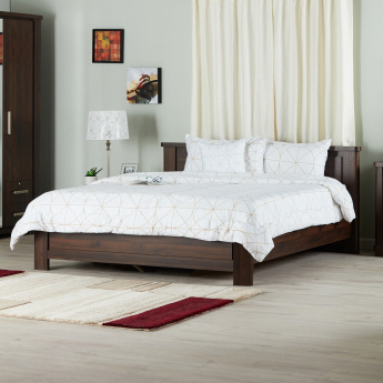 Optec Queen Wooden Bed - 155x205 cm