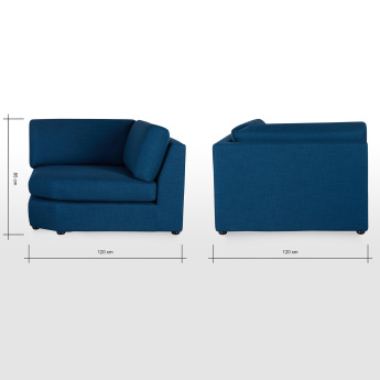 Eterno Wedge 1-Seater Sofa with Knock-Down Back