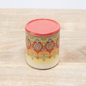 Ottoman Printed Canister with Lid