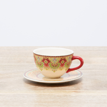 Ottoman Printed Cup and Saucer Set - 220 ml