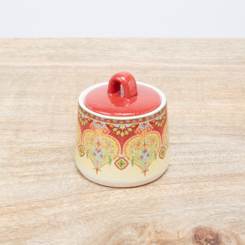 Ottoman Printed Sugar Pot with Lid