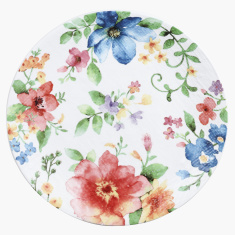 Floral Printed Round Dinner Plate