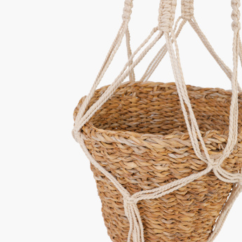 Macrame Plant Hanger with Round Pot