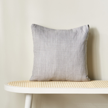 Eterno Textured Square Filled Cushion - 45x45 cms