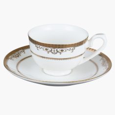 Royal Majestic Printed Espresso Cup and Saucer - 100 ml