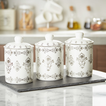 Sparkle Rose Printed Canister - Set of 3