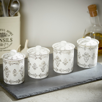 Sparkle Rose Spice Canister - Set of 4
