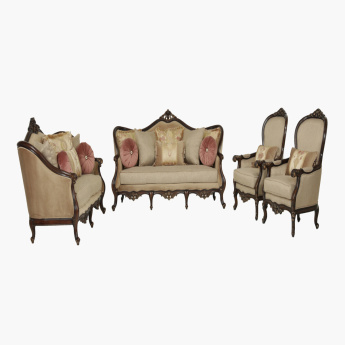 Frieda Printed 7-Seater Sofa Set with Cushions