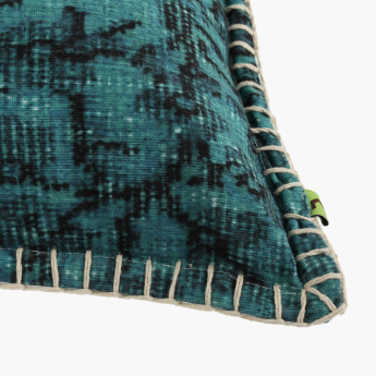 Azure Textured Filled Cushion with Zip Closure - 45x45 cms