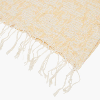 Skara Printed Bed Throw with Tassels - 150x200 cms
