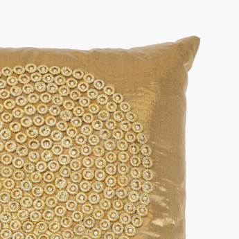 Brudaaz Embellished Filled Cushion - 45x45 cms