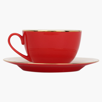Annuum Round Cup and Saucer Set