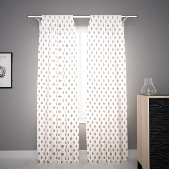 Babry Printed Sheer Curtain Pair -135x300 cms