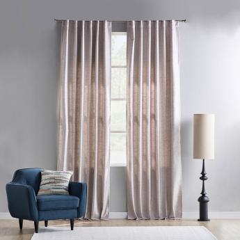 Babry Textured Unlined Curtain Pair - 135x300 cms