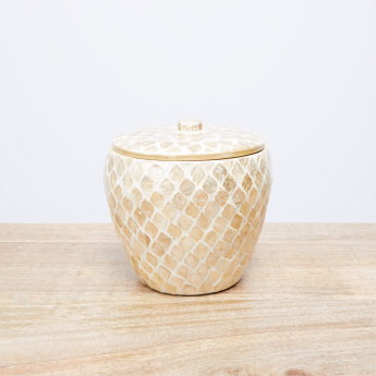 Textured Trinket Box with Lid