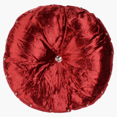 Madison Embellished Round Filled Cushion - 42 cms