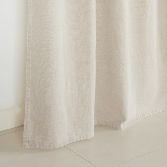 Classa Textured Curtain Pair - 140x240 cms