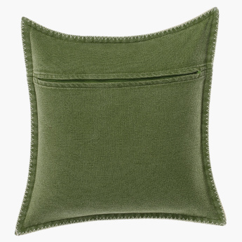 Stone Washed Reversible Cushion Cover - 45x45 cms