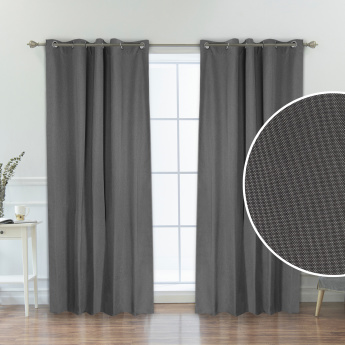 Chemsford Textured 2-Piece Curtain Set - 135x300 cms