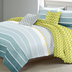 Boho Striped 5-Piece Comforter Set - 160x240 cms