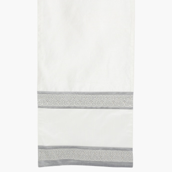 Mono Suzani Embroidered Table Runner