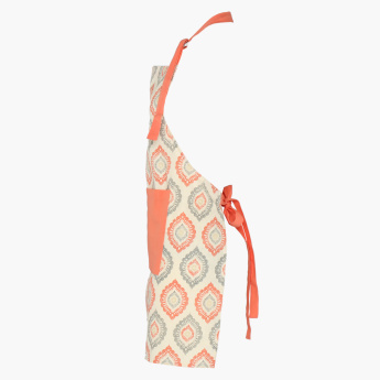 Printed Apron with Pocket Detail and Adjustable Halter Neck