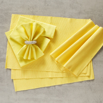 Ribbed 8-Piece Placemat and Napkin Set