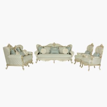 Hamilton Printed 3+2+1+1 Seater Sofa Set with Cushions