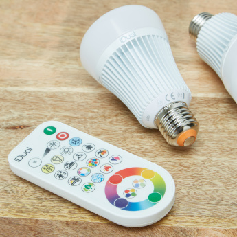 iDual 2-Piece LED Bulb with Remote Control