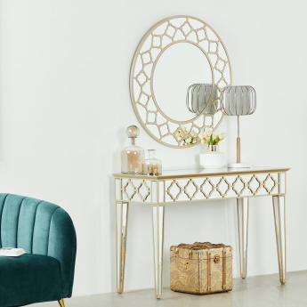 Casablanca Console with Round Mirror