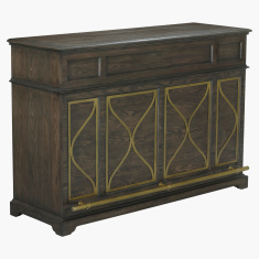 Palampore Patterned Rectangular Bar Counter with Storage