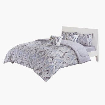 Mesper Printed 5-Piece Full Comforter Set - 160x240 cms