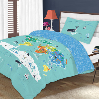 Ibn's Printed 2-Piece Full Comforter Set - 240x160 cms