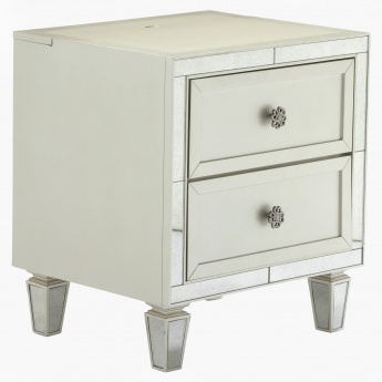 Mono Suzani 2-Drawer Nightstand