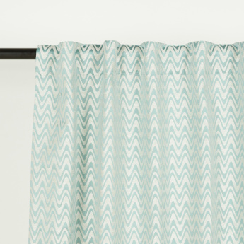 Loyce Wave Unlined Curtain - 135x240 cms