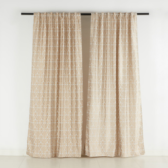Remmy Jacquard Curtain Pair - 132x240 cms