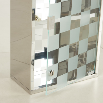 Ariel Mirror Detail Medicine Cabinet with Shelves