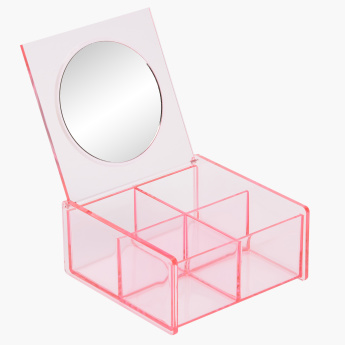 Janies 4-Compartment Square Box with Mirror