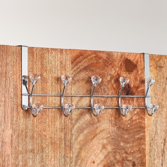 Crystal Studded Over-the-Door Hook Rack