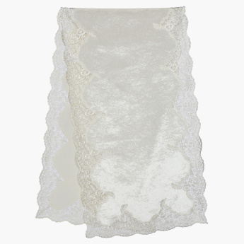 Ana Lace Detail Table Runner - 40x180 cms