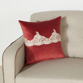 Anna Cushion Cover with Lace Detail - 45x45 cms