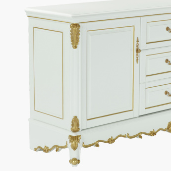 Bianca Rectangular 3-Drawer Cabinet