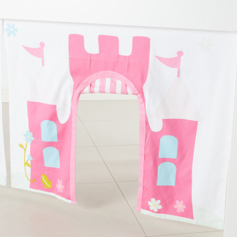 Princess Castle Printed Collapsible Bed Tent with Tunnel and Pocket